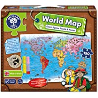 Orchard Dev Dünya Haritası 5-10 Yaş Yapboz (280)