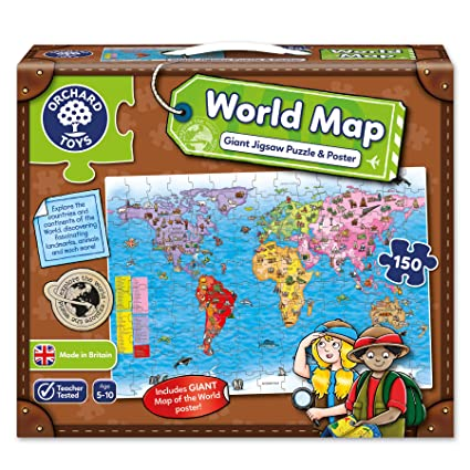 Buy orchard toys world map puzzle and poster multi color online at orchard toys world map puzzle and poster multi color gumiabroncs Gallery