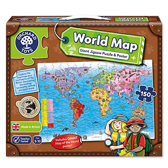 Orchard toys world map jigsaw puzzle and poster amazon toys orchard toys world map jigsaw puzzle and poster amazon toys games gumiabroncs Image collections