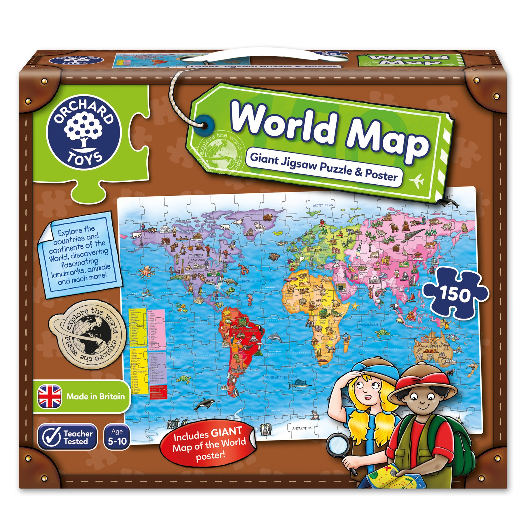 Map puzzle amazon orchard toys world map jigsaw puzzle and poster gumiabroncs Images