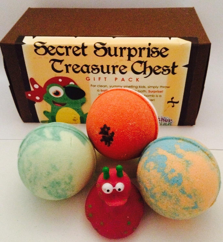 Amazon Secret Surprise Treasure Chest Gift Pack Bath Bombs