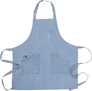 Ayesha Curry Chef & Hostess Apron | Denim | Perfect for your kitchen, garden, the art room or anywhere you interact with your toddlers