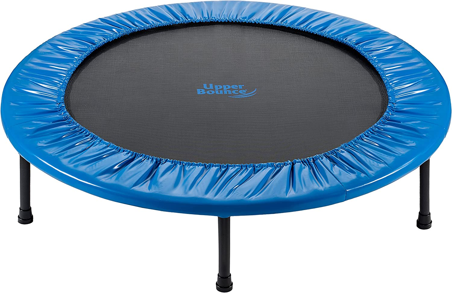 Upper Bounce Mini Trampoline - Round Foldable Rebounder Fitness Trampoline for Kids - Adults Outdoor Indoor Trampoline for Exercise, Workout, Gymnastics with Safety pad for Additional Protection
