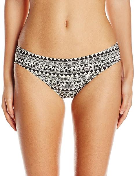 e04e539cb6 Laundry by Shelli Segal Women's Maharaji Border Hipster Bikini Bottom,  Black, Large