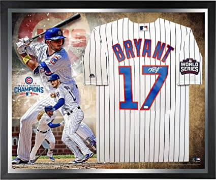 Kris Bryant Chicago Cubs 2016 MLB World Series Champions Framed Autographed  Majestic White Replica World Series 7f7f45b21