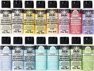 product image for FolkArt Multi Surface Acrylic Paint Set 16 piece Pastel Colors, Count