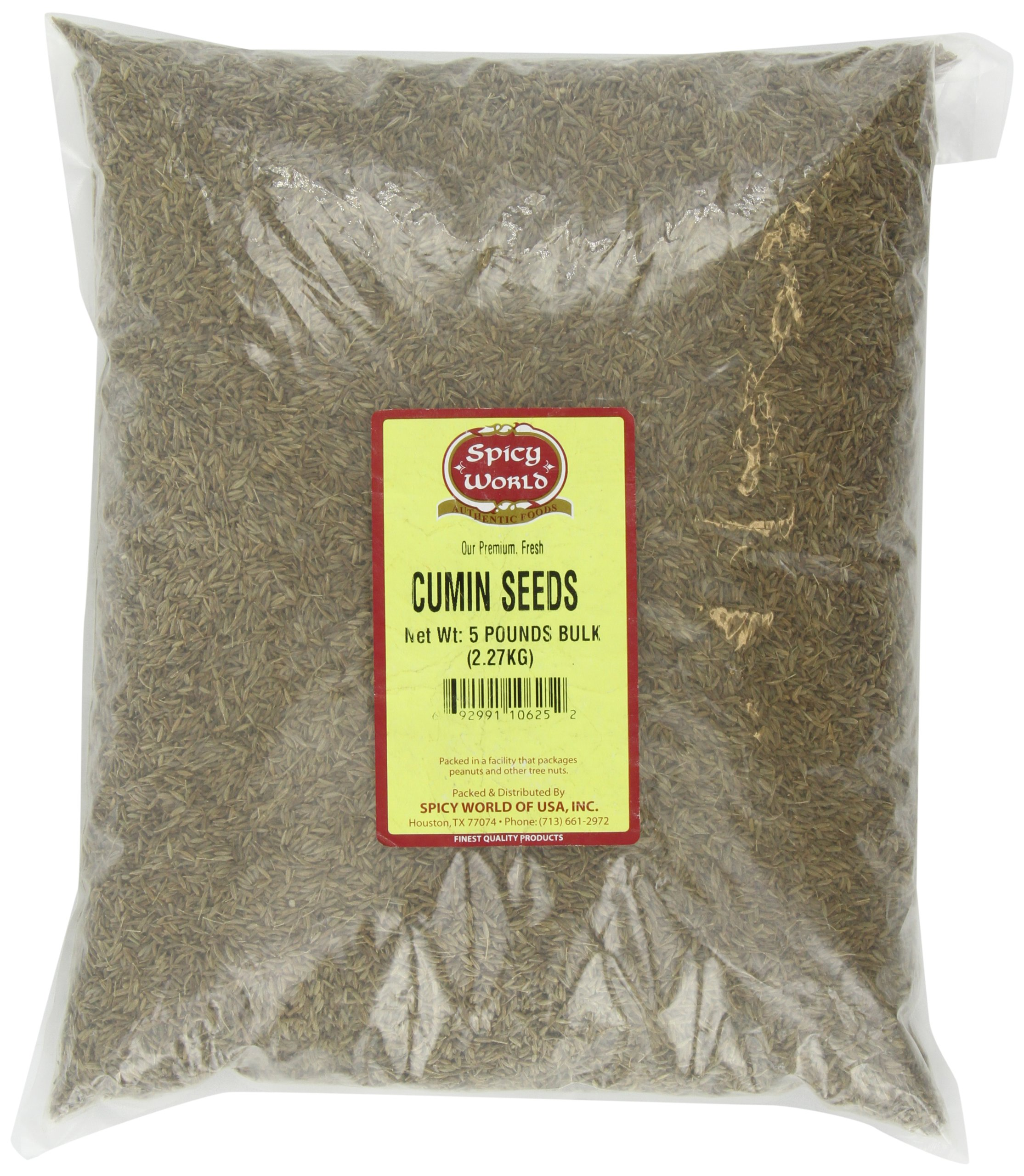 Spicy World Cumin Seeds Bulk, 5-Pounds
