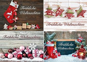 Weihnachtskarten Motive.Weihnachtskarten Set Mit 20 Stück Weihnachtspostkarten 4 Motive Jeweils 5 Postkarten Weihnachten Set Mit Weihnachtliche Karten