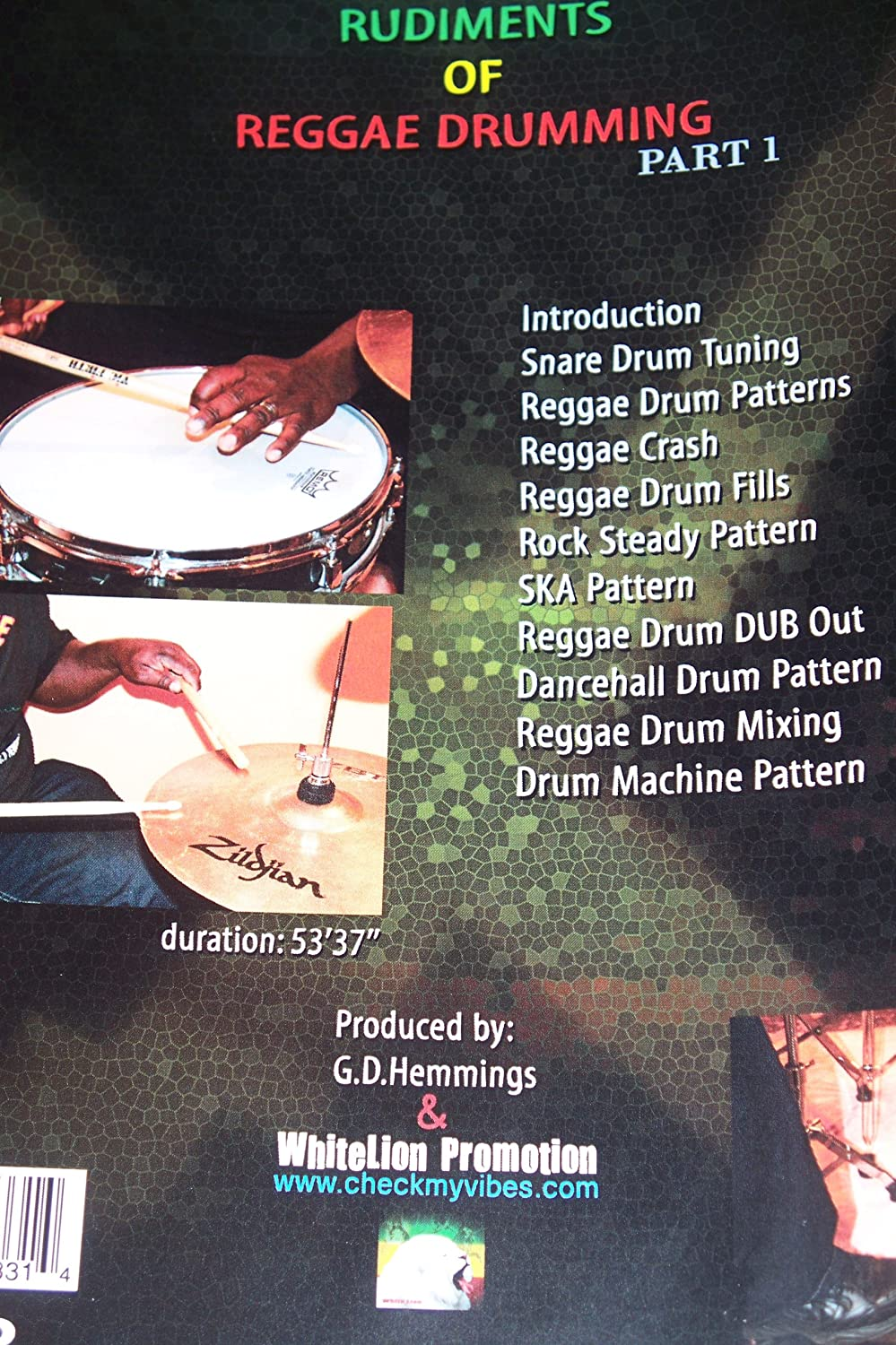 Rudiments Of Reggae Drumming P1 By G D Hemmings Pro Reggae