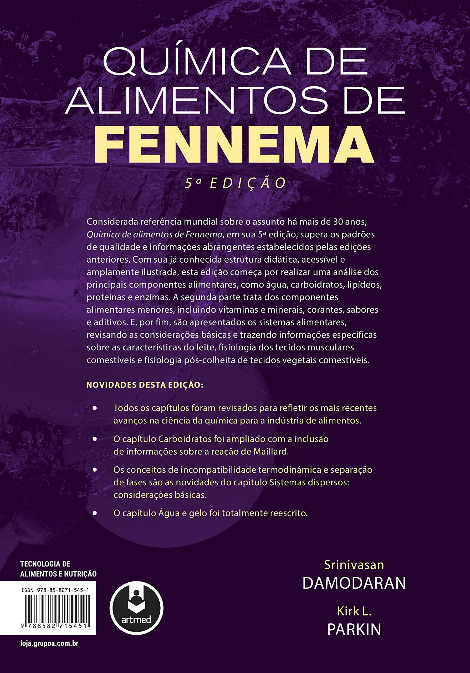 Química de Alimentos de Fennema: Srinivasan Damodaran: 9788582715451 ...
