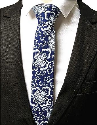 Boys Skinny Ties Boys White Ties White Paisley pattern Boys formal ties