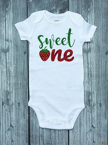 05f243ecc184 Strawberry bodysuit - birthday shirt - sweet one - Berry Sweet - strawberry  romper - birthday outfit - berry shirt - strawberry - strawberry party ...
