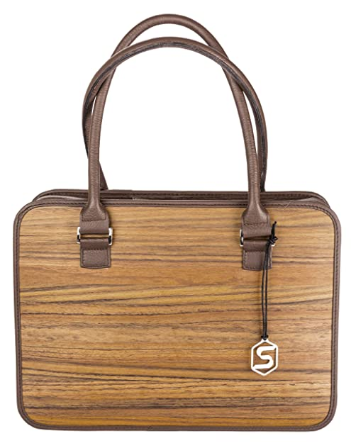 "Bolso de mano ""MARY"" | Fabricado con madera auténtica tipo roble ahumado o"