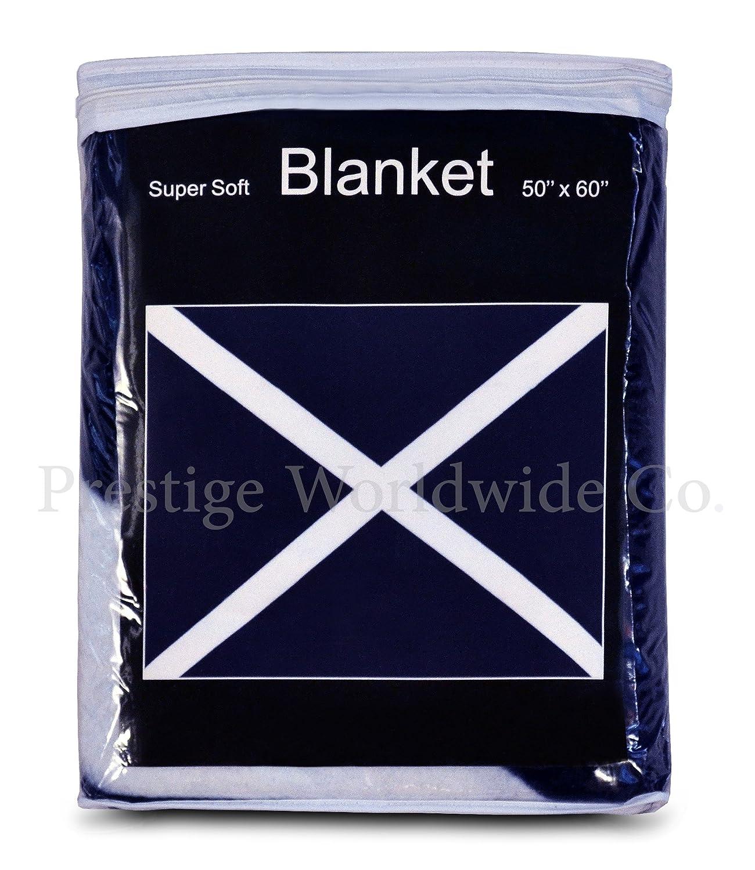 amazon com scottish st andrew u0027s cross fleece blanket 5 ft x 4 2