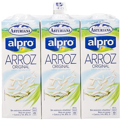 Alpro Central Lechera Asturiana Bebida de Arroz - Paquete de 6 x 1000 ml - Total