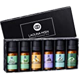 Lagunamoon Essential Oils Top 6 Gift Set Pure Essential Oils for Diffuser, Humidifier, Massage, Aromatherapy, Skin & Hair Car
