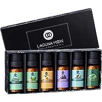 Lagunamoon Juego de regalo de aceites esenciales, 6 mejores aceites de aromaterapia, árbol de té, de lavanda, naranja…