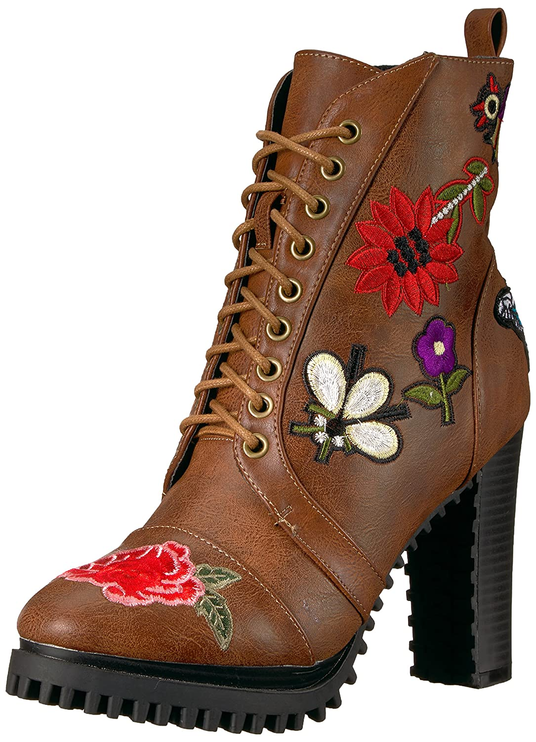 Penny Loves Kenny Women's Frank Combat Boot B072532GRP 13 B(M) US|Light Brown
