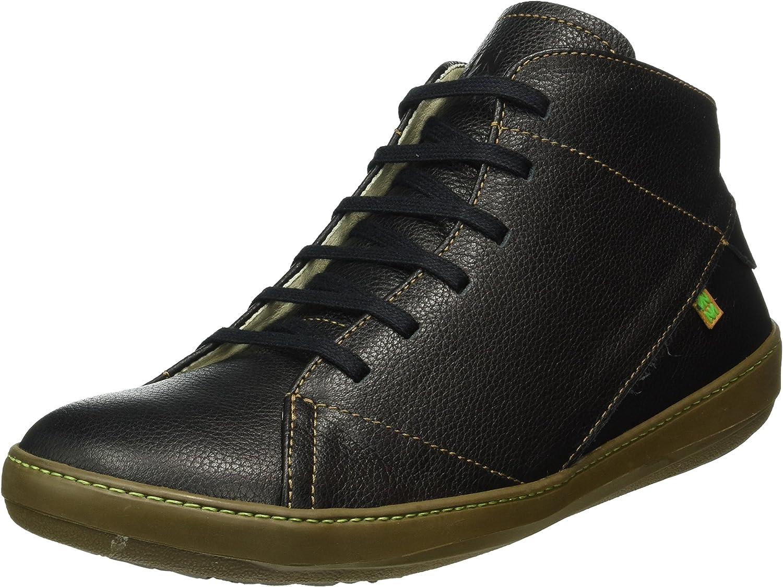 El Naturalista N212 Soft Grain Black/Meteo, Zapatos de Cordones Derby para Hombre