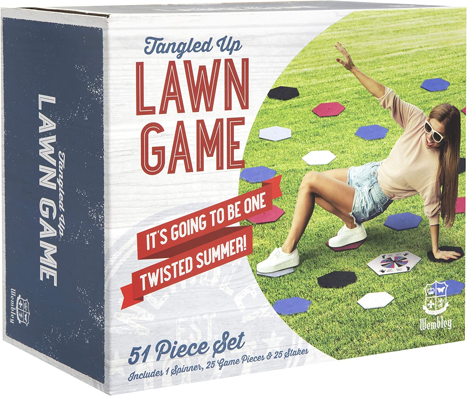 Wembley Tangled Up Lawn Game, Jumbo Outdoor Games for Teens and Adults, Spinner and Colorful Balance Pieces, Backyard, Park, Picnic or Camping, ...