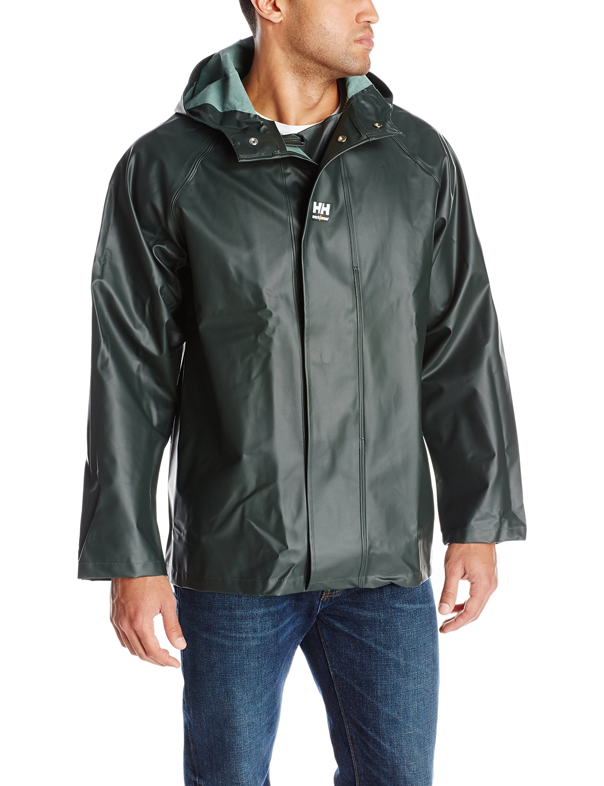 Helly Hansen Workwear Highliner Fishing Jacket, Dark Green, S