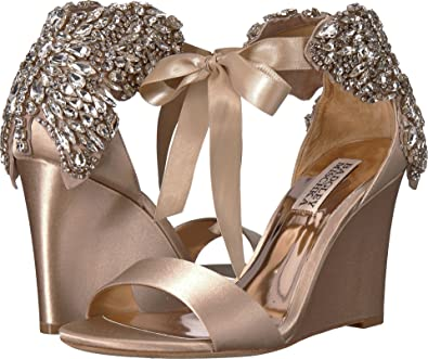 304ced06073f Amazon.com  Badgley Mischka Women s Heather Nude Satin 6.5 M US  Shoes