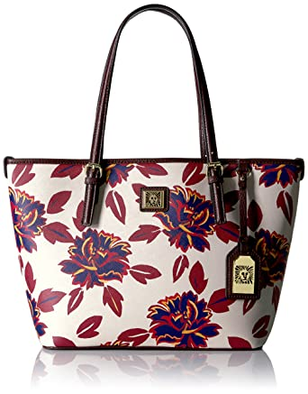 a4913c556a9 Amazon.com  Anne Klein Perfect Medium Tote, Ruby Multi Port  Clothing