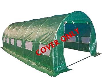 FoxHunter - Invernadero de túnel (6 x 2 x 2 m, 3 secciones, solo cobertura): Amazon.es: Jardín