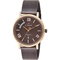 Naviforce NF3006 mens Watch, Analog and Stainless Steel Mesh - NF3006-RGCE
