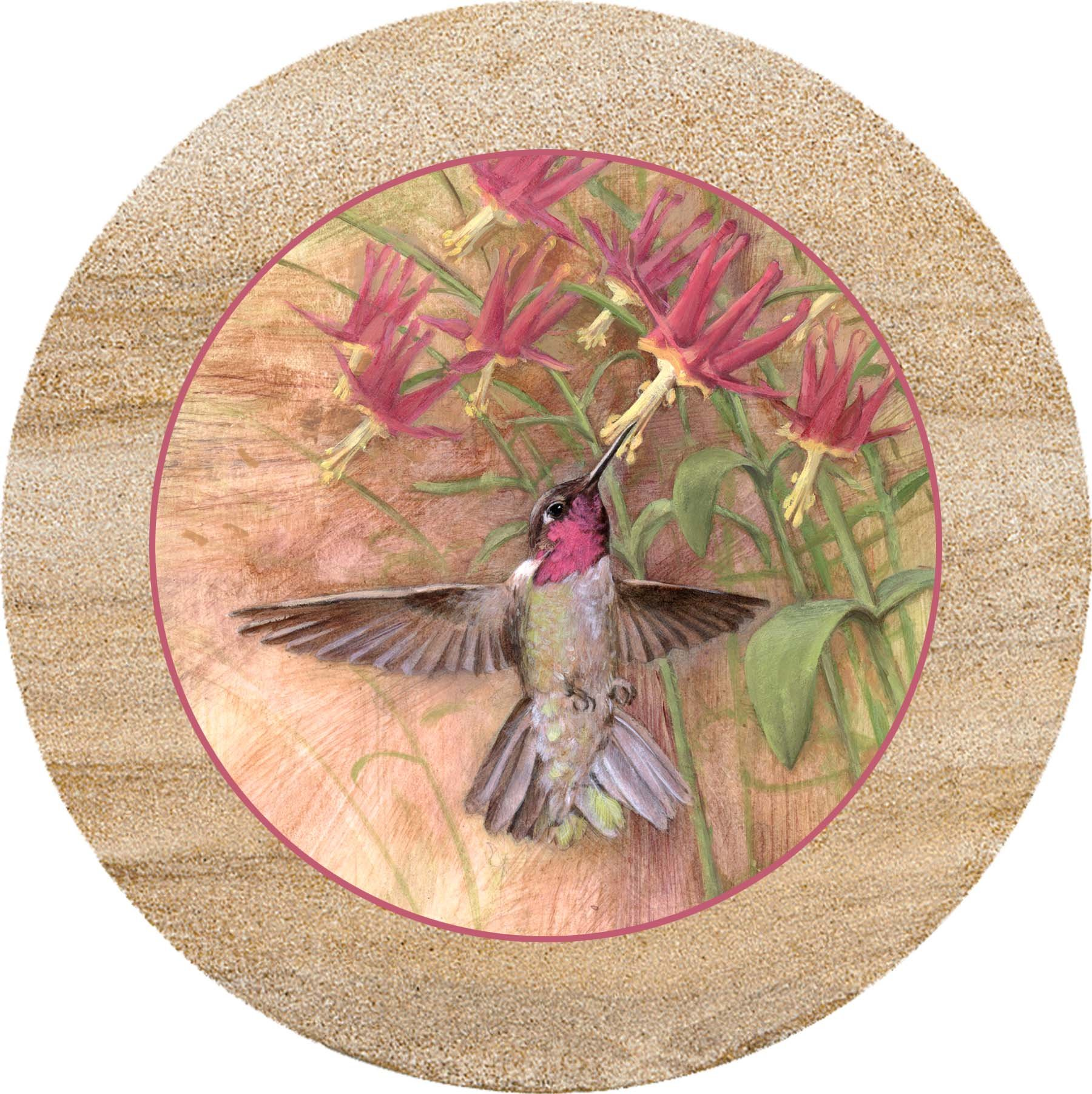Thirstystone Sandstone Trivet Winged Jewel by Thirstystone