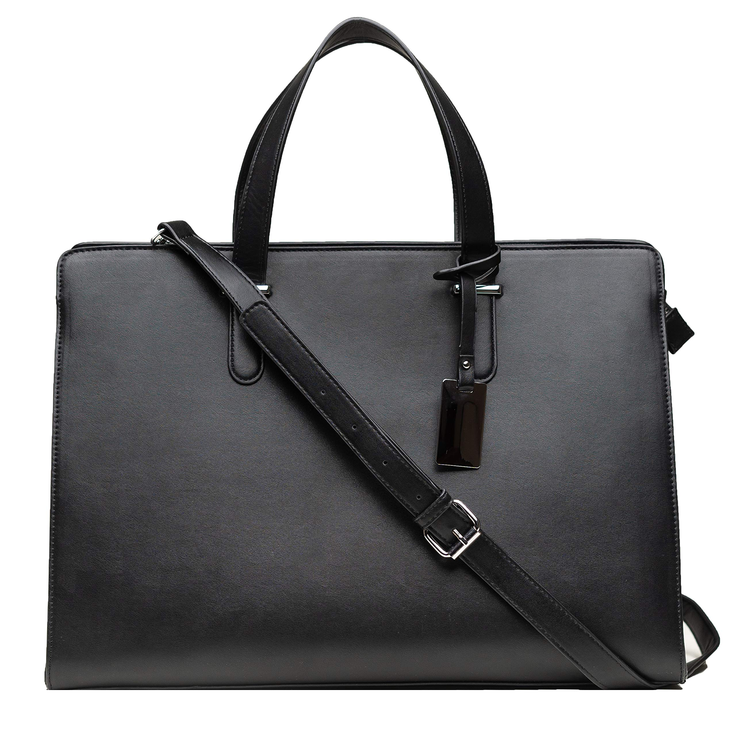 Computer Bag for Women - Ideal Laptop Tote Bag to Keep Your Business Documents, Laptop & Notebook Safe, Unique & Practical Laptop Accessories (Black) by BLONS California (Image #1)