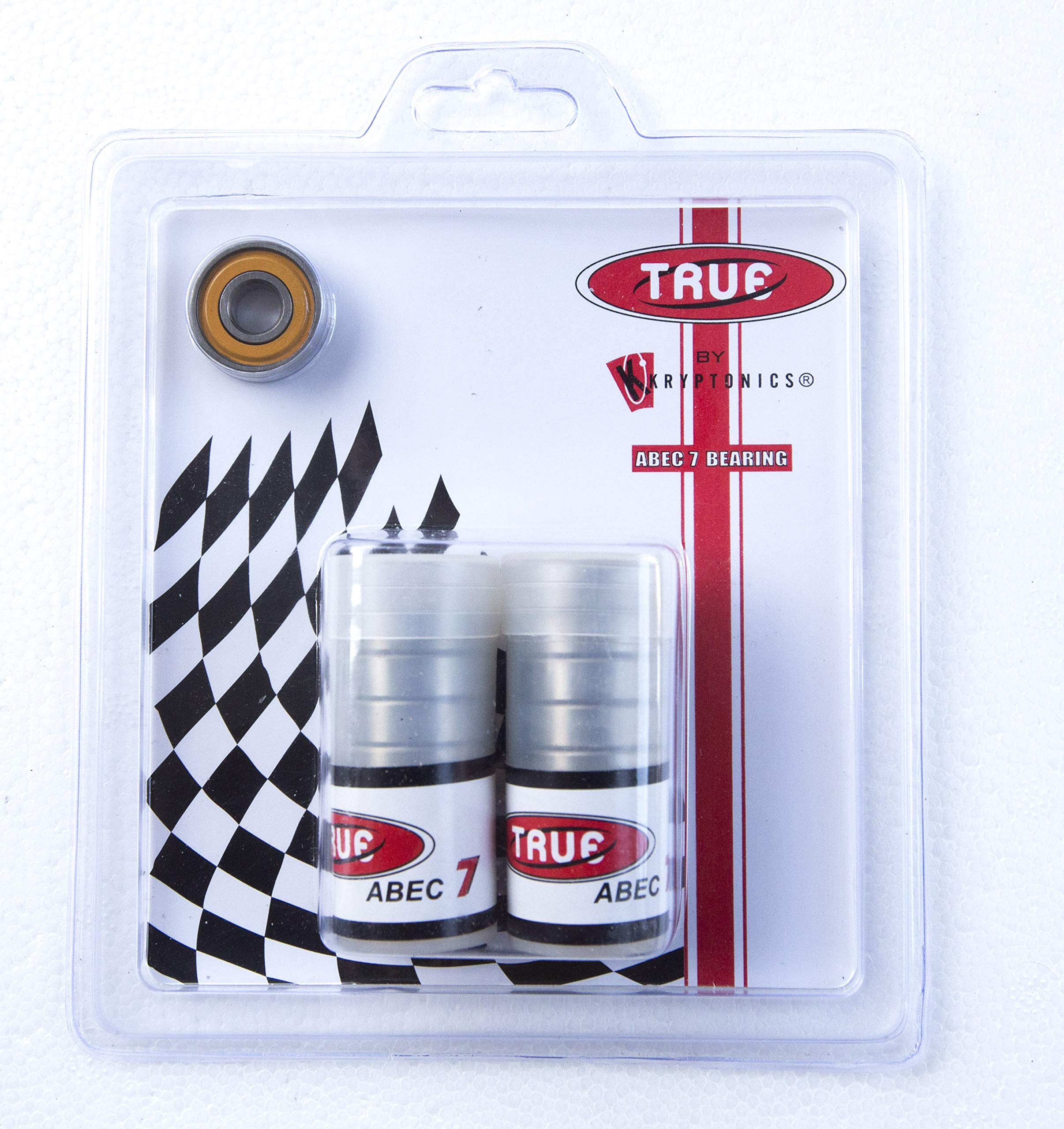 TRUE BEARINGS ABEC-7 (16 Pack) for Inline and Quad Skates