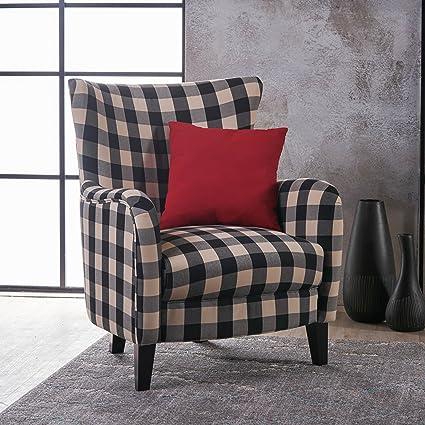 Amazoncom Christopher Knight Home 301061 Arador Fabric Club Chair