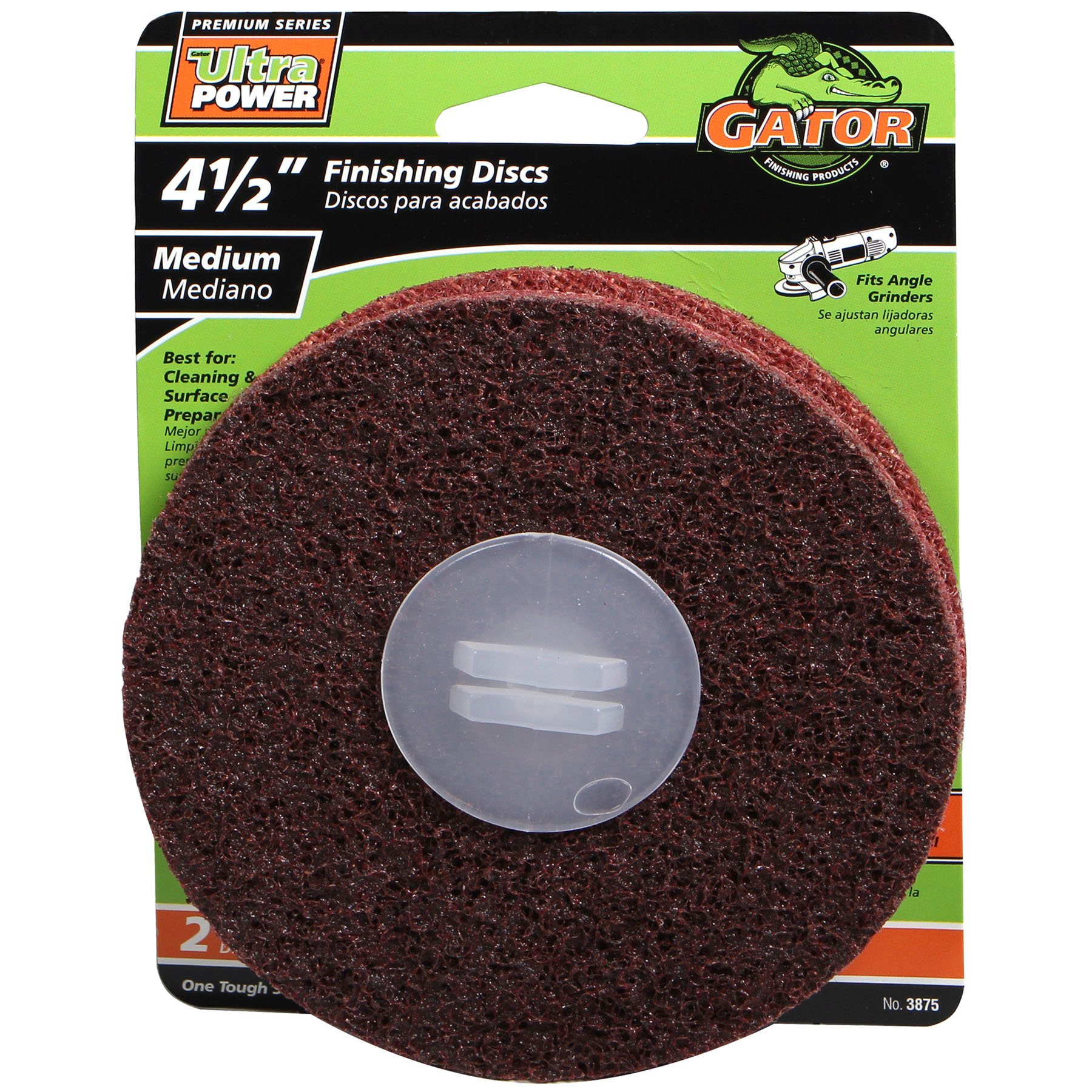 Gator Finishing 3875 Surface Conditioning Discs Medium (2 Pack), 4.5''