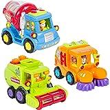 Toyshine Push and Go Friction Powered Unbreakable Vehicle Automobile Car Toy (Set of 3)