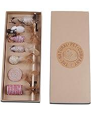 The Natural Pet Company Katzenspielzeug Set – Interaktiv – Federn – Katzenangel – Stoffmäuse – Geschenkbox Qualitätsprodukt