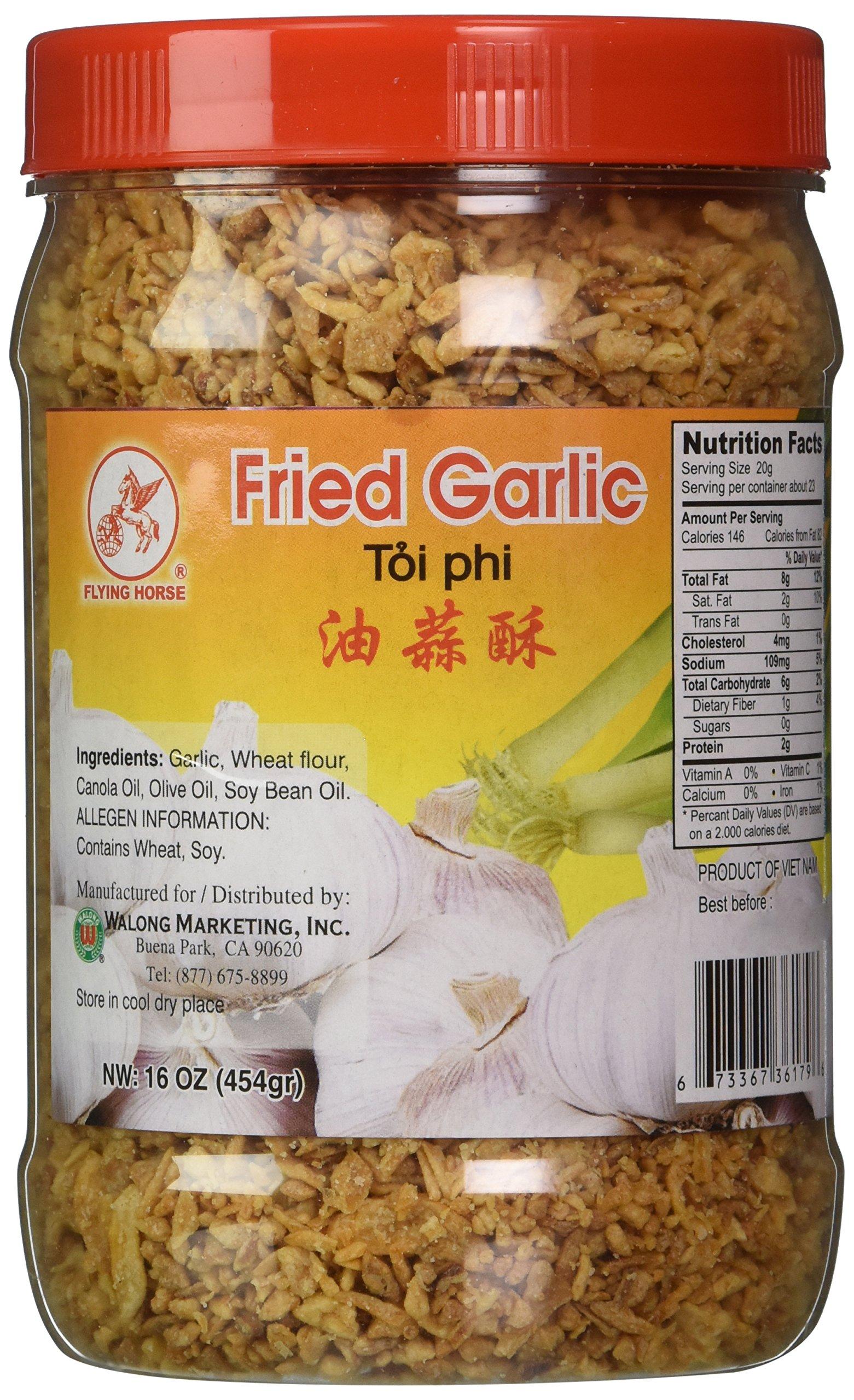 16oz Flying Horse Crispy Fried Garlic (1 Pound Total)
