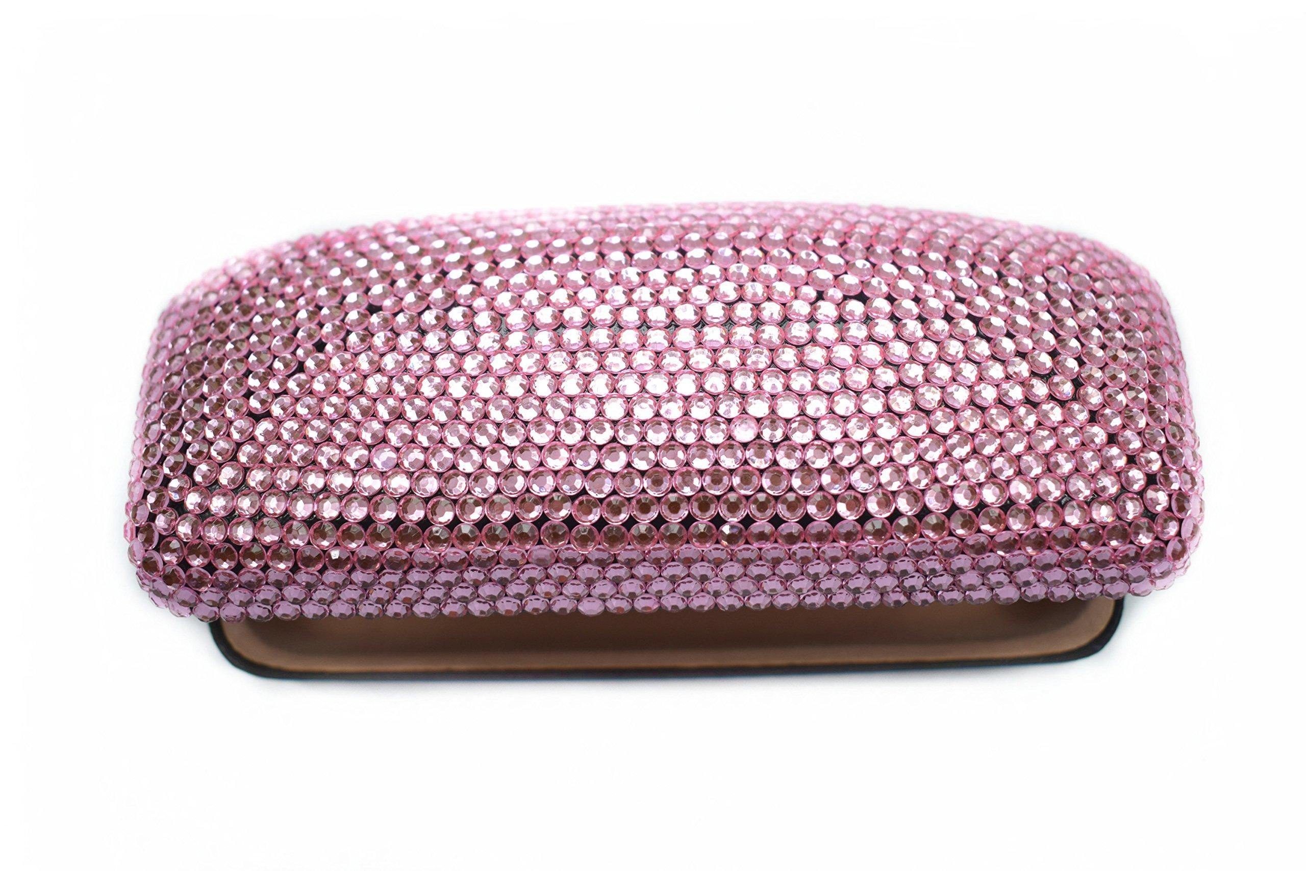 Fashion Pink Bling Crystal Travel Glasses Case Cute Rhinestone Gift Eyeglasses Box by Bling Dynasty (Image #3)