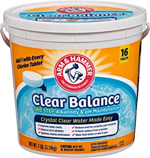 product image for Arm & Hammer Clear Balance Pool Maintenance Tablets, 16 Count, Net Wt. 7LB (3.18kg)