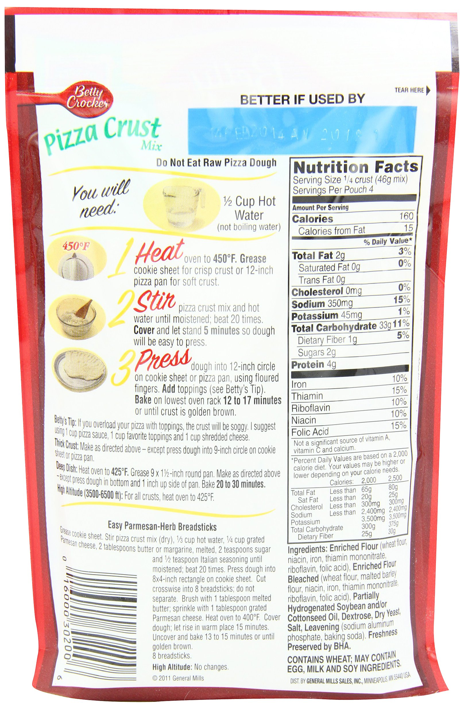 Betty Crocker Pizza Crust Mix, 6.5-Ounce Pouches (Pack of 24) by Betty Crocker (Image #2)