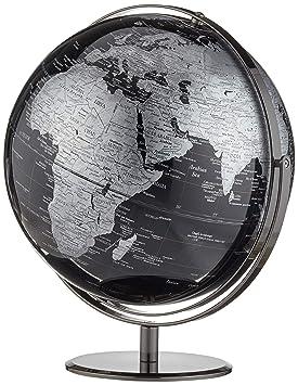 Globe Collection - Globo terráqueo (30 cm), color negro: Amazon.es: Hogar