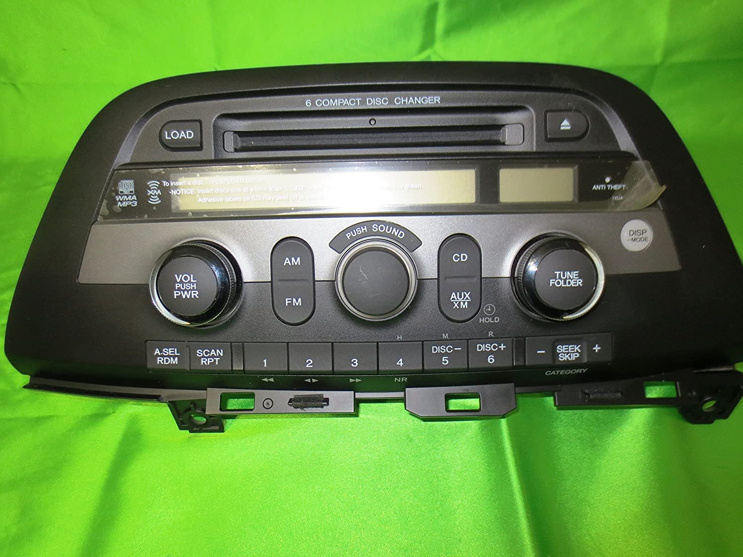 Amazon.com: 05-10 Honda Odyssey EX and EX-L Radio CD Player 6 CD Disc  Changer MP3: Car Electronics