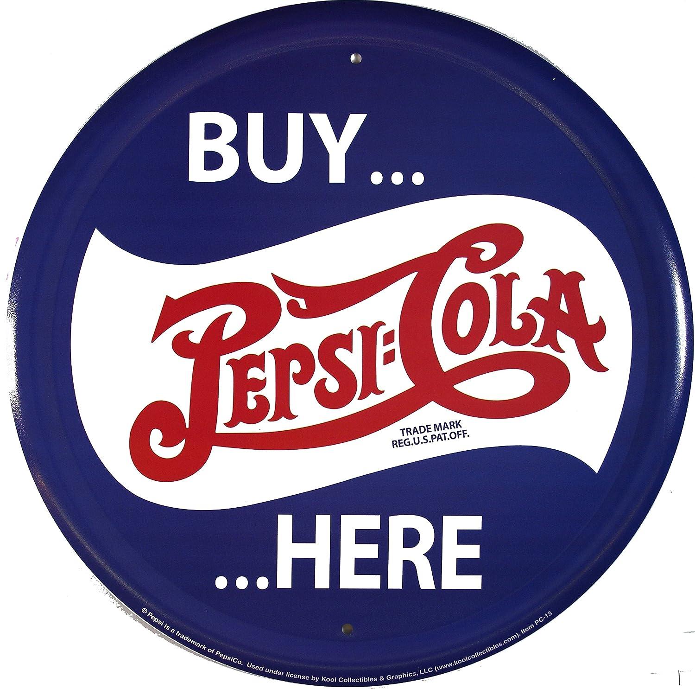 Pepsi Buy Here rund Cartel de Chapa Placa metal plano Nuevo ...