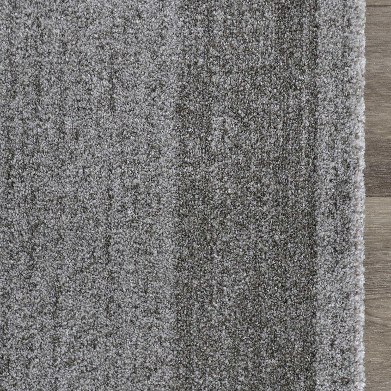 Mynes Home Teppich Kurzflor Grau einfarbig Modern Wohnzimmerteppich Wohnzimmer Umrandung Umrandung Umrandung Bordüre Designer (200cm x 290cm) B07F31JLKZ Teppiche 46f628