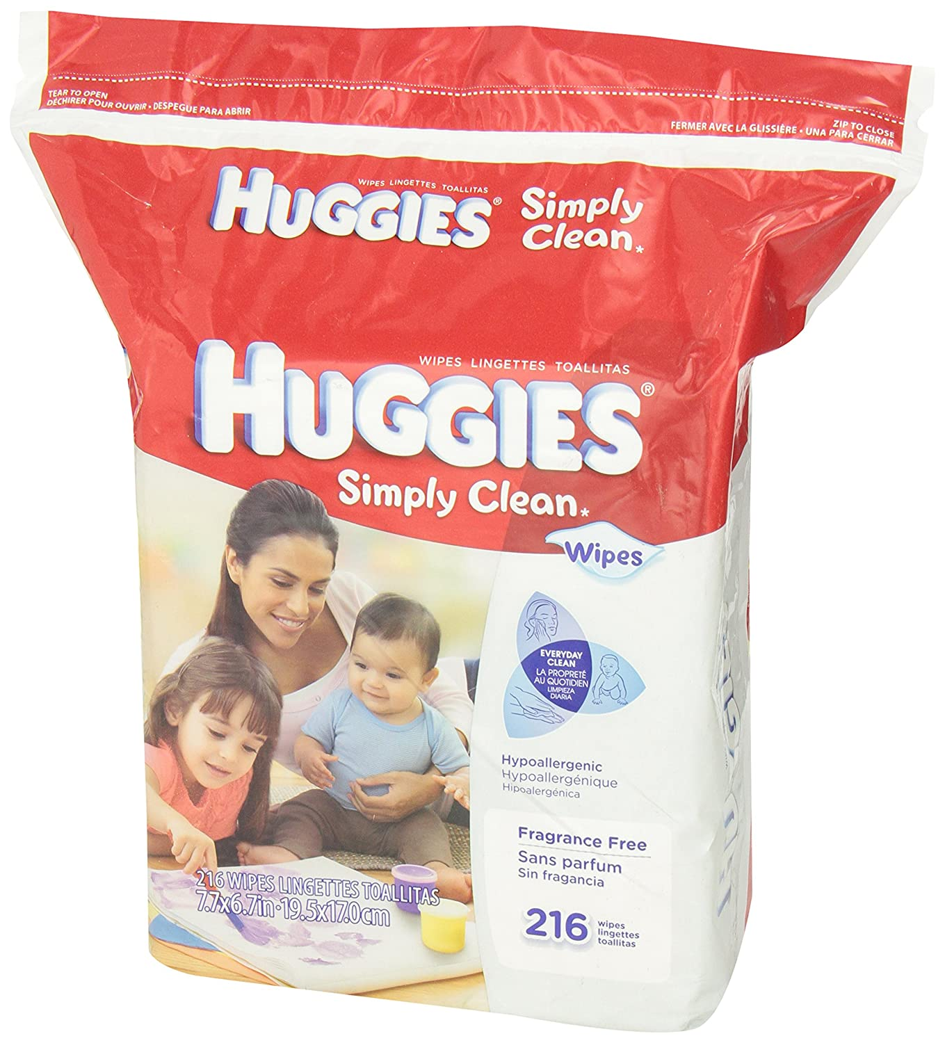 Huggies Simply Clean Fragrance Free Baby Wipes Refill, 216 Count: Amazon.com: Grocery & Gourmet Food