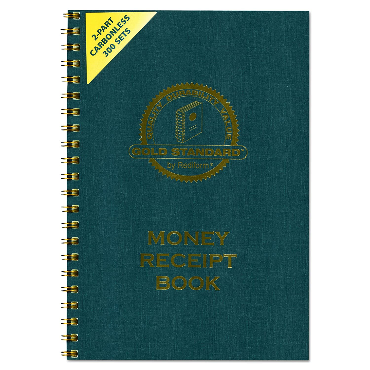 Money Receipt Book, 7 x 2 3/4, Carbonless Duplicate, Duplicate, Duplicate, Twin Wire, 300 Sets/Book 9a7e70