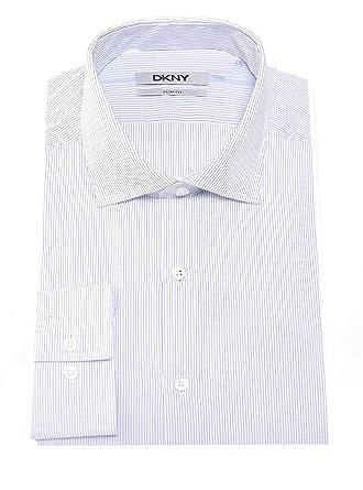 Dress Shirts Men's Clothing Symbol Of The Brand Slim Fit Blue Plaid Herringbone Spread Collar Wrinkle Freee Cotton Dress Shirt
