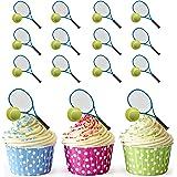 Tennisschläger und Ball Cupcake Topper/Kuchen Dekorationen (12Stück)