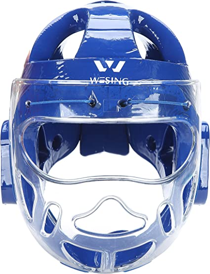 NEW Headgear with Clear Face Shield for Karate Taekwondo MMA Sparring Training