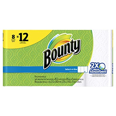 Bounty Select-A-Size Paper Towels, White, Giant Roll, 8 Count: Health & Personal Care